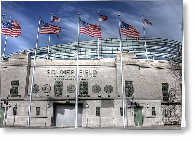 Soldier Field Greeting Card by David Bearden