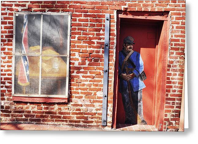 Fredricksburg Greeting Cards - Soldier in the door.  Greeting Card by Ashley Knowles
