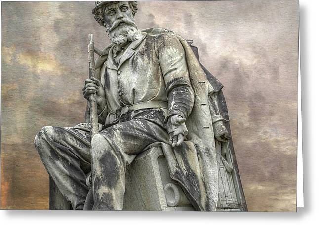 Soldiers National Monument War Statue Gettysburg Cemetery  Greeting Card by Randy Steele