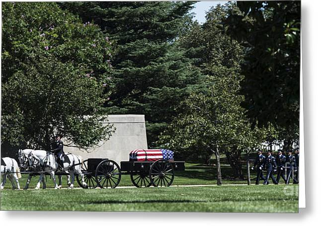 Arlington Greeting Cards - Solemn Procession Greeting Card by David Bearden