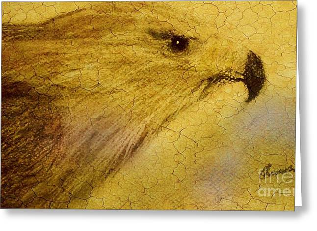 Golden Brown Pastels Greeting Cards - Solid Gold Eagle Greeting Card by Wilson Rachel