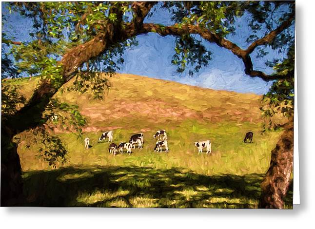 Sonoma County Digital Greeting Cards - Solid Oak Frame Greeting Card by John K Woodruff