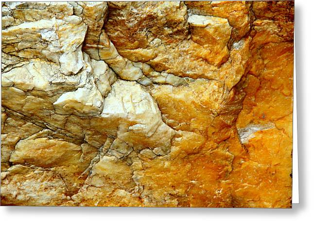 White Paintings Greeting Cards - Solid Rock Greeting Card by Freda Nichols