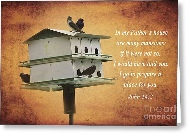 Gospel Greeting Cards - My Fathers House Greeting Card by Deborah Berry