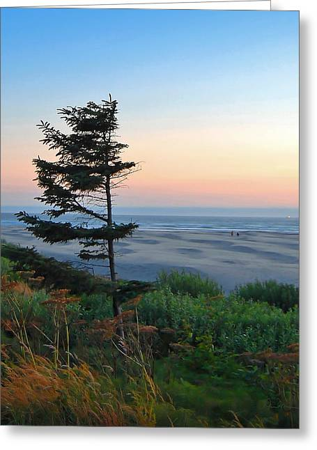 Agate Beach Oregon Greeting Cards - Solitude at Agate Beach Greeting Card by Alice Martin