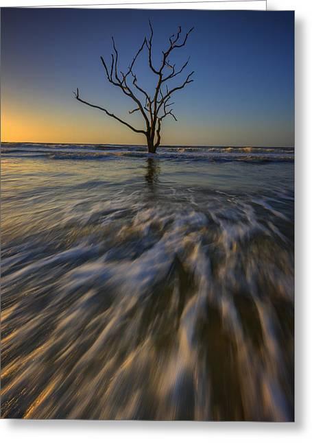 Solitude At Botany Bay Greeting Card by Rick Berk
