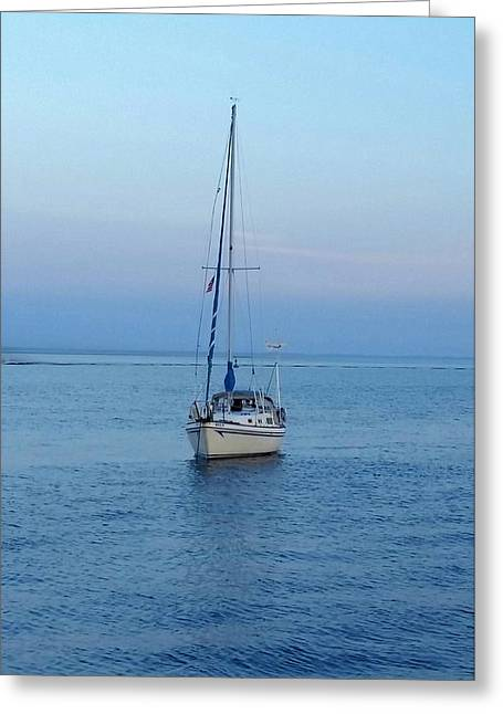 Sailboat Ocean Greeting Cards - Solitude at Last Greeting Card by Susan Schuman