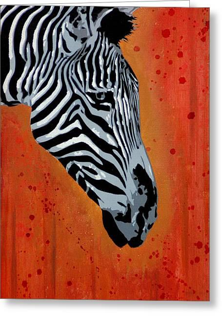 Spray Paint Mixed Media Greeting Cards - Solitude in Stripes Greeting Card by Iosua Tai Taeoalii