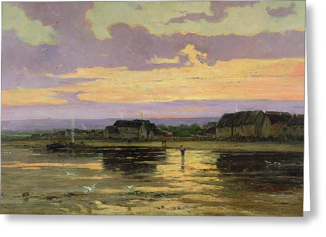 Solitude Greeting Cards - Solitude in the Evening Greeting Card by Marie Joseph Leon Clavel Iwill