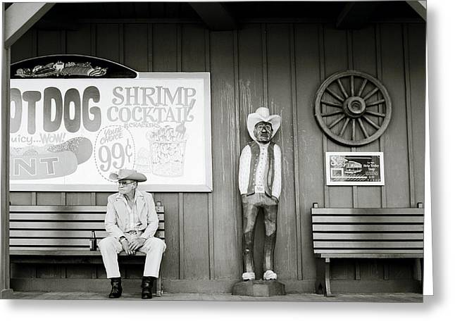 Carefree Cowboy Greeting Cards - Solitude In Vegas Greeting Card by Shaun Higson
