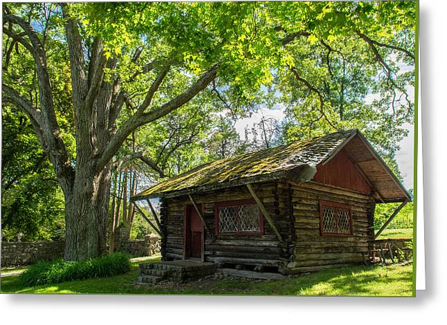 Log Cabins Greeting Cards - Solitude Greeting Card by Michael Santos