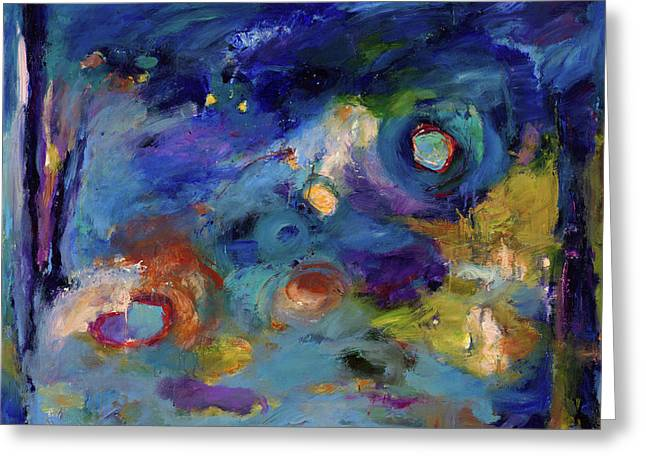 Cosmos Paintings Greeting Cards - Solitude of Dreams Greeting Card by Johnathan Harris