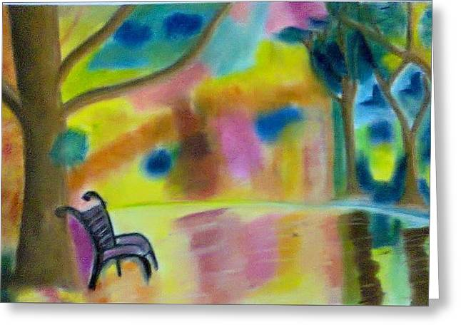 Loneliness Pastels Greeting Cards - Solitude Greeting Card by Suhail Noor