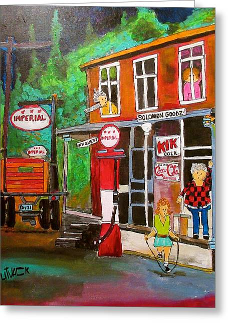 Solomon Goodz General Store St. Sophie Greeting Card by Michael Litvack