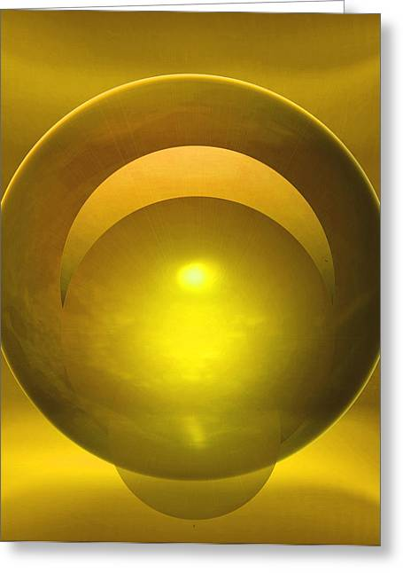 Abstract Expressionist Digital Greeting Cards - Solstice Greeting Card by John Krakora