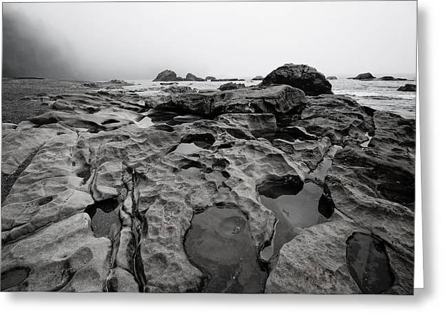 Juan De Fuca Provincial Park Greeting Cards - Sombrio Rocks Greeting Card by Heather K Jones