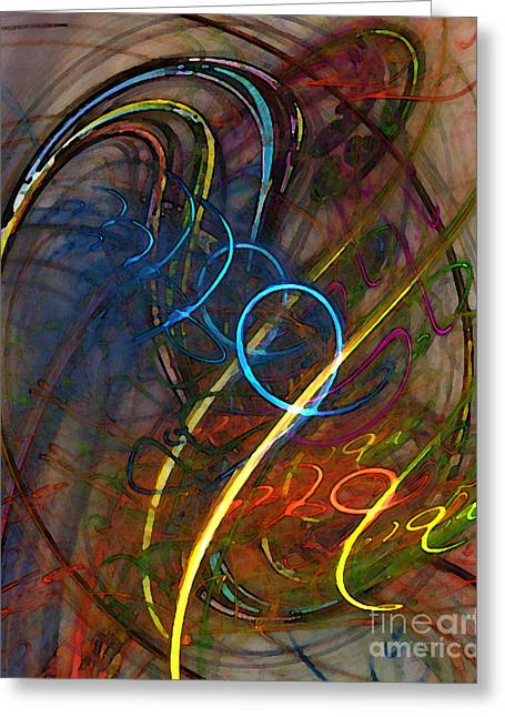 Vital Greeting Cards - Some Critical Remarks Abstract Art Greeting Card by Karin Kuhlmann