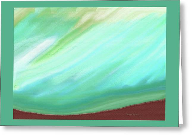 Abstract Digital Paintings Greeting Cards - Some Kind of Rain Greeting Card by Lenore Senior