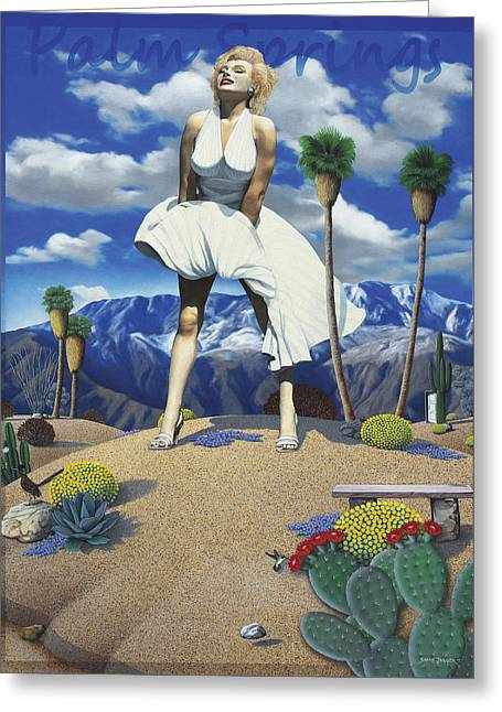 Desert Paintings Greeting Cards - Some Like it Hot Greeting Card by Snake Jagger