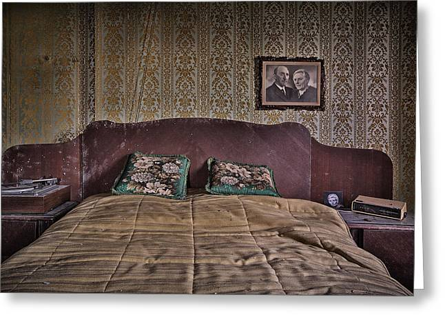 Old Home Place Greeting Cards - Somebody is in our bedroom taking pictures Greeting Card by Dirk Ercken