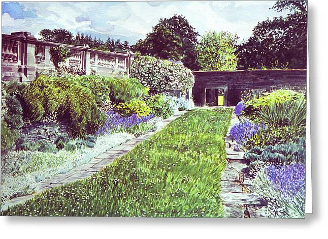 Most Greeting Cards - Somerset Garden Greeting Card by David Lloyd Glover