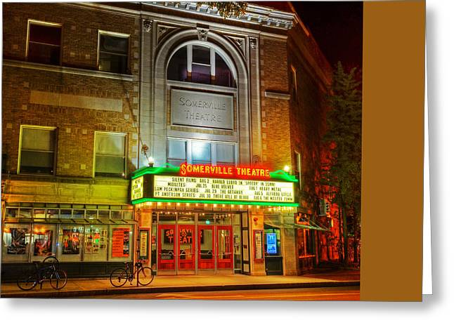Boston Ma Greeting Cards - Somerville Theater in Davis Square Somerville MA Greeting Card by Toby McGuire