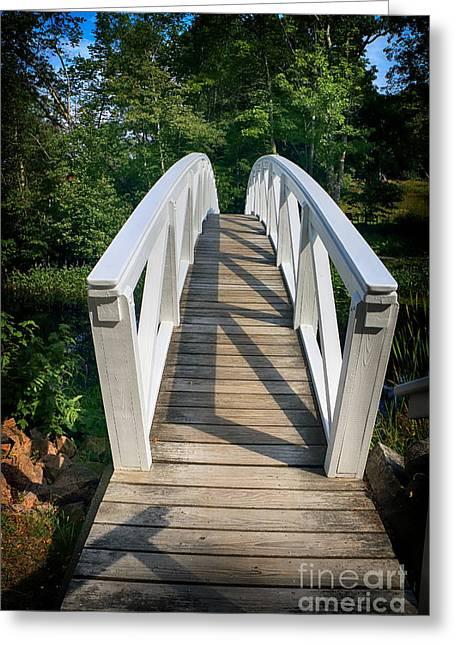 Somesville Bridge Greeting Card by Elizabeth Dow