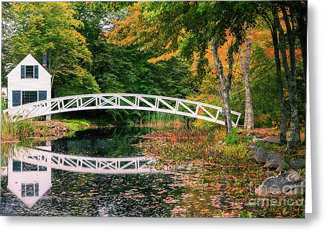 Somesville Maine Greeting Cards - Somesville Bridge Greeting Card by Henk Meijer Photography