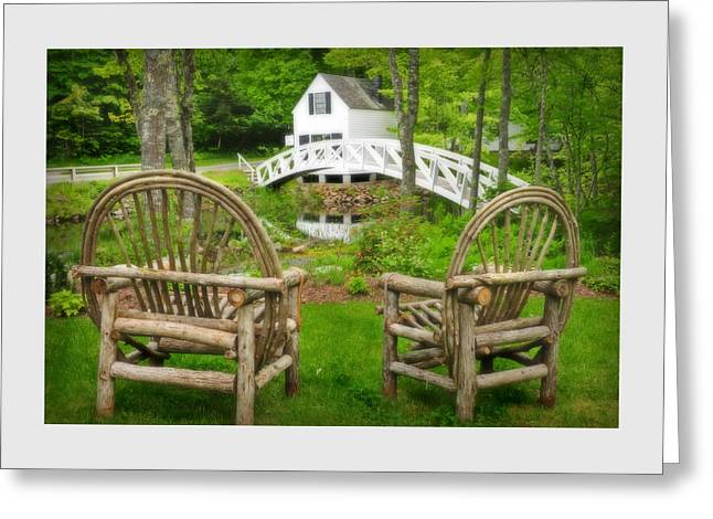 Somesville Maine - Arched Bridge Greeting Card by Thomas Schoeller