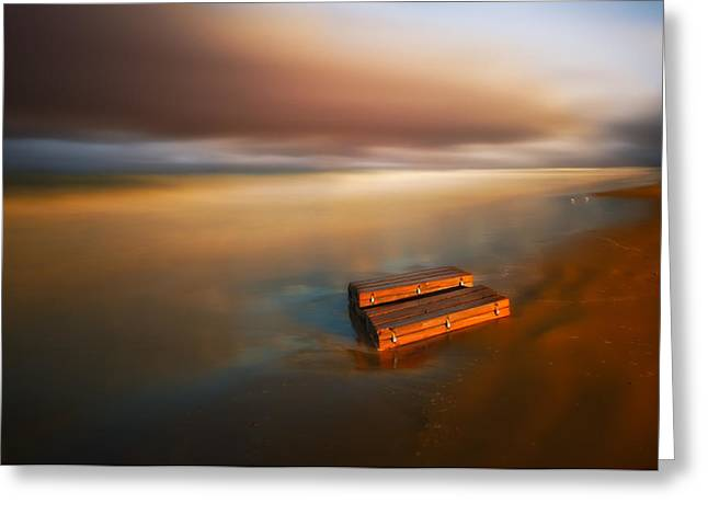 Beach Landscape Greeting Cards - Something ... Greeting Card by Piotr Krol (bax)