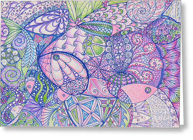 Decorative Fish Greeting Cards - Something Fishy Greeting Card by Aimee Mouw