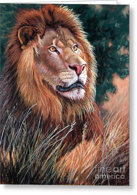 Africa Pastels Greeting Cards - Something in the Wind Greeting Card by Deb LaFogg-Docherty