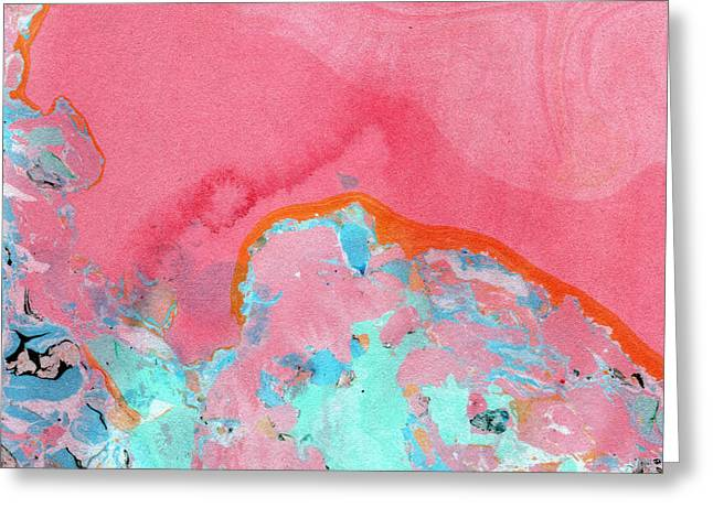 Somewhere New- Abstract Art By Linda Woods Greeting Card by Linda Woods