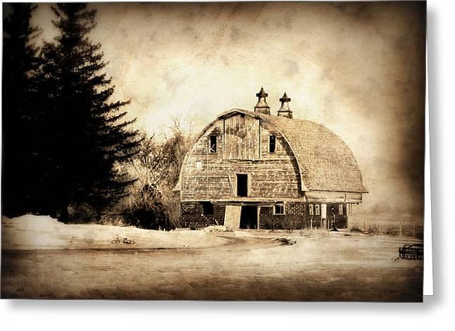 Barn Digital Greeting Cards - Somethings missing Greeting Card by Julie Hamilton