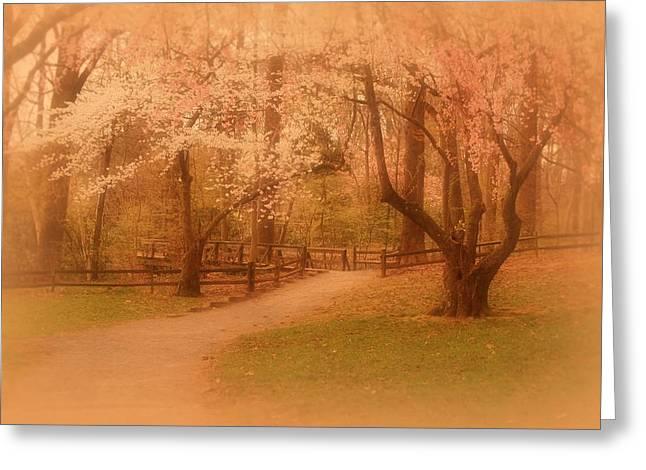 Holmdel Greeting Cards - Sometimes - Holmdel Park Greeting Card by Angie Tirado