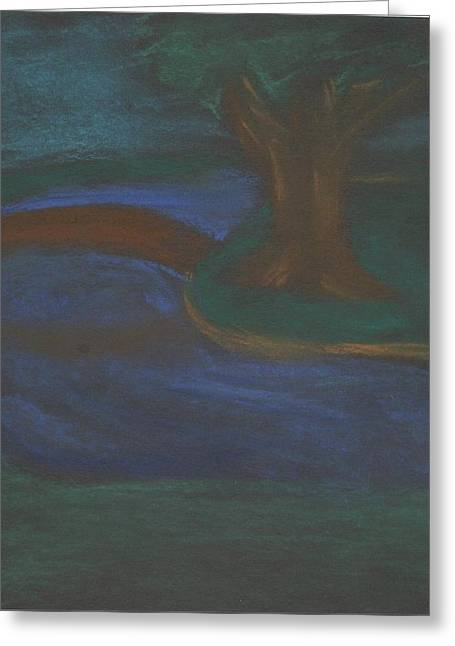 Night Time Pastels Greeting Cards - Somewhere at night Greeting Card by Alexandra Mallory