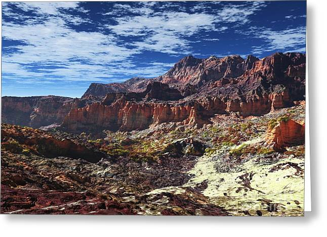 Earth Sculptures Greeting Cards - Somewhere Greeting Card by Dave Luebbert