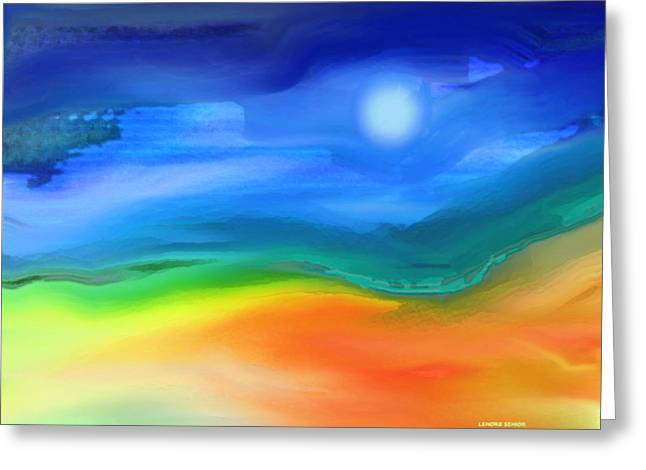 Abstract Expressionist Greeting Cards - Somewhere in the West 2 Greeting Card by Lenore Senior