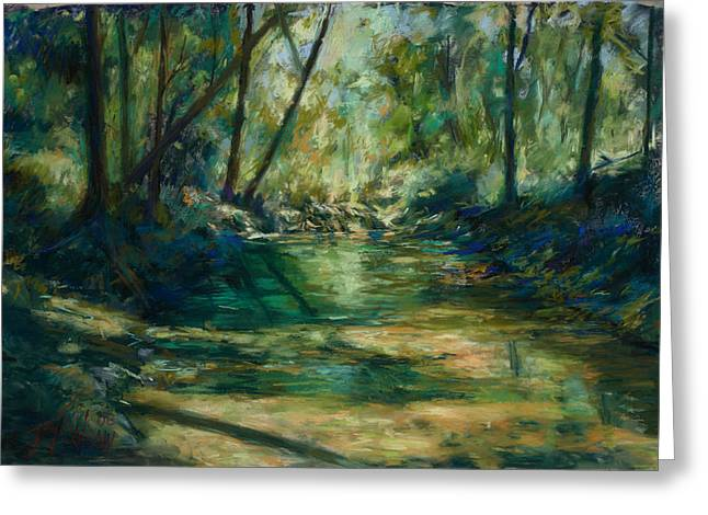 Austin Pastels Greeting Cards - Somewhere Near Austin Greeting Card by Billie Colson