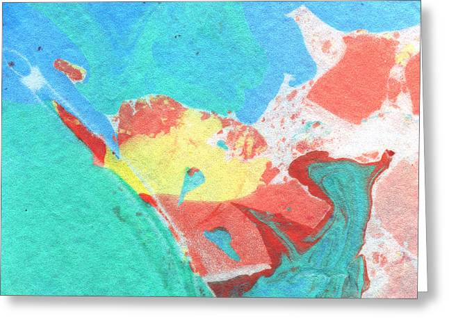 Book Cover Art Greeting Cards - Somewhere New 3- Abstract Art by Linda Woods Greeting Card by Linda Woods