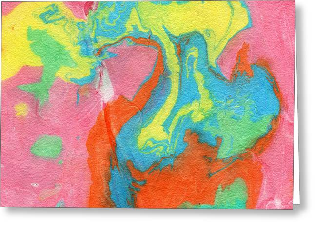 Book Cover Art Greeting Cards - Somewhere New 5- Abstract Art by Linda Woods Greeting Card by Linda Woods