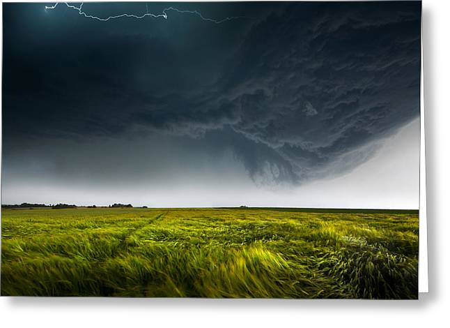 Thunderstorm Greeting Cards - Sommergewitter_01 Greeting Card by Franz Schumacher