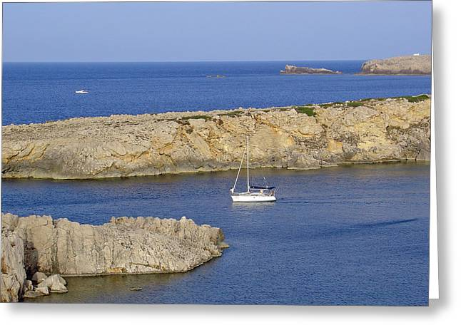 Boats Greeting Cards - Son Parc - Menorca Greeting Card by Rod Johnson