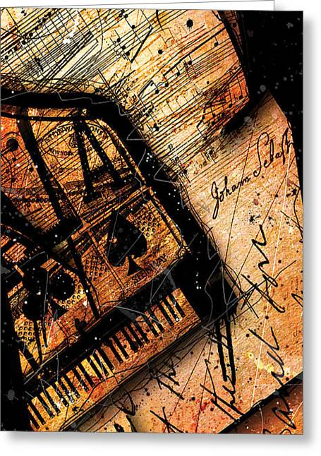 Sonata In Ace Minor Panel I Greeting Card by Gary Bodnar