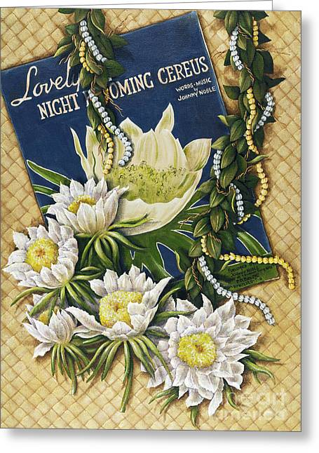 Lauhala Greeting Cards - Song of the Cereus Greeting Card by Sandra Blazel - Printscapes