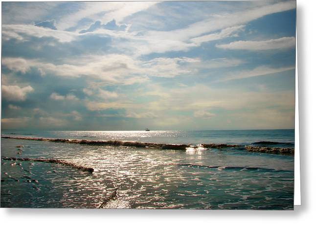 Sea Scape Greeting Cards - Song of the Sea Greeting Card by Amy Tyler