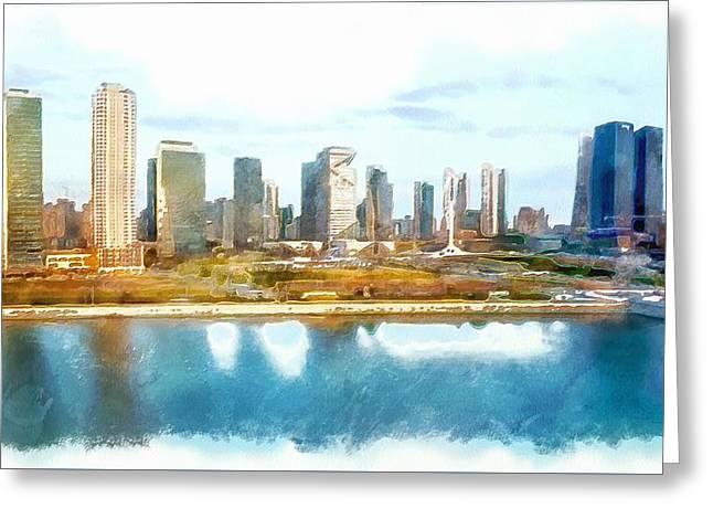 Mario Carini Paintings Greeting Cards - Songdo Concept City Greeting Card by Mario Carini