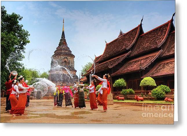 Songkran Greeting Card by Buchachon Petthanya