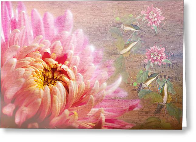 Floral Digital Art Greeting Cards - Songs Of Spring Greeting Card by Georgiana Romanovna