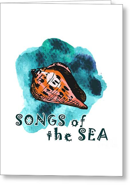 Sea Life Digital Greeting Cards - Songs of the sea Greeting Card by Gaspar Avila